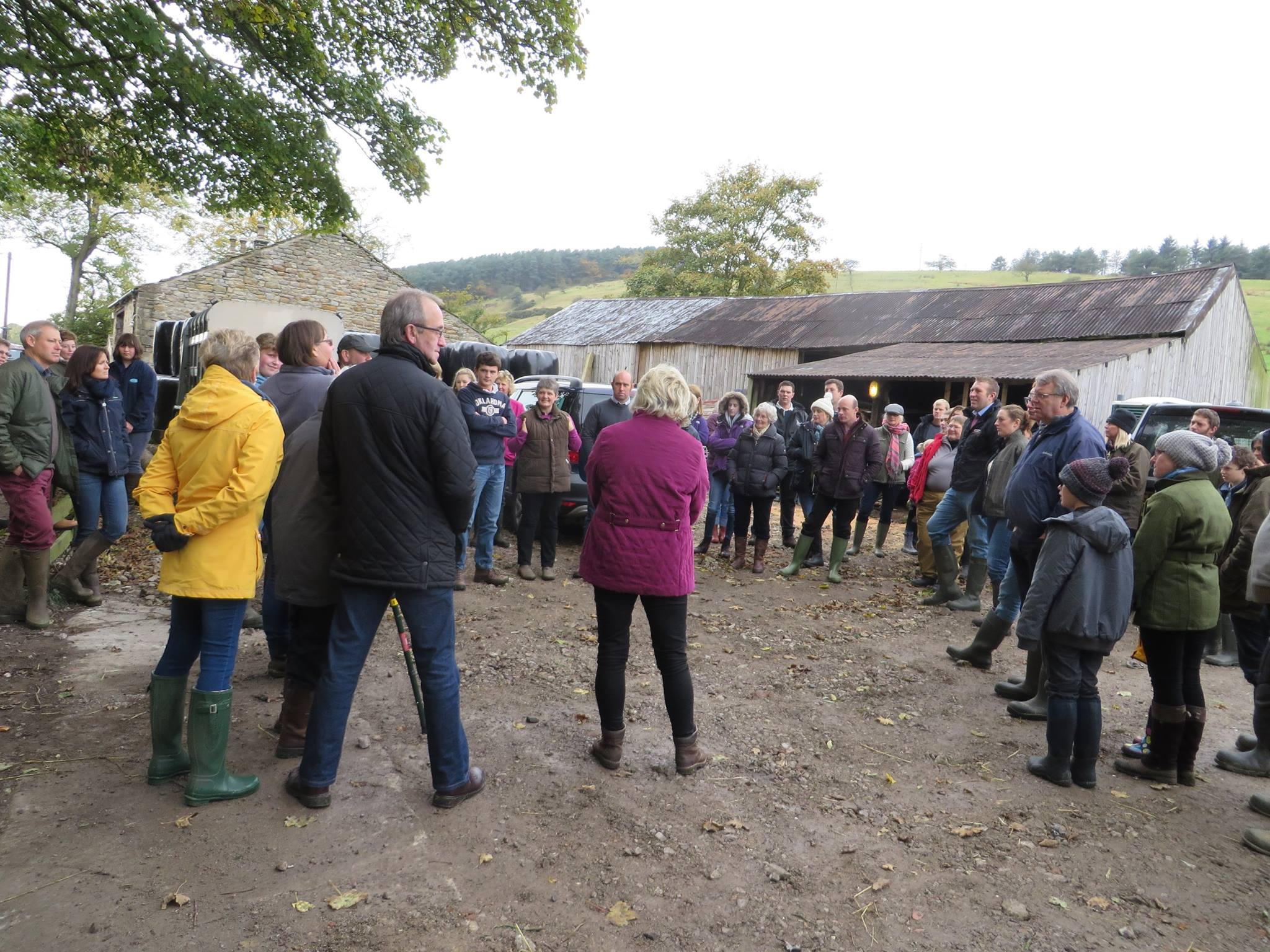 Members gathered at Quarrydale Zwartbles